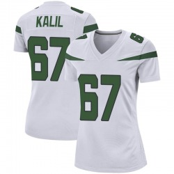 Game Women's Ryan Kalil New York Jets Nike Jersey - Spotlight White