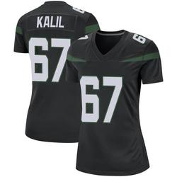 Game Women's Ryan Kalil New York Jets Nike Jersey - Stealth Black