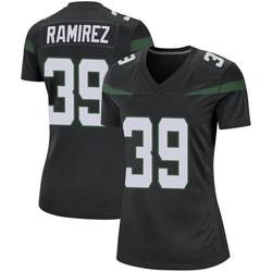 Game Women's Santos Ramirez New York Jets Nike Jersey - Stealth Black
