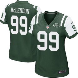 Game Women's Steve McLendon New York Jets Nike Team Color Jersey - Green