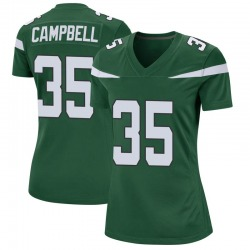 Game Women's Tevaughn Campbell New York Jets Nike Jersey - Gotham Green