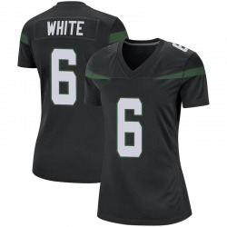 Game Women's Tim White New York Jets Nike Jersey - Stealth Black
