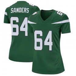 Game Women's Trevon Sanders New York Jets Nike Jersey - Gotham Green