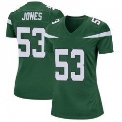 Game Women's Tyler Jones New York Jets Nike Jersey - Gotham Green