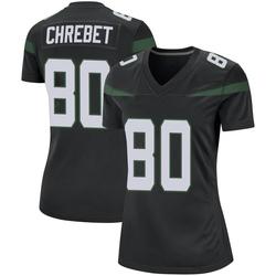 Game Women's Wayne Chrebet New York Jets Nike Jersey - Stealth Black