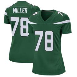 Game Women's Wyatt Miller New York Jets Nike Jersey - Gotham Green