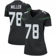 Game Women's Wyatt Miller New York Jets Nike Jersey - Stealth Black