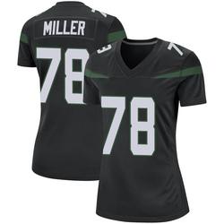 Game Women's Wyatt Miller New York Jets Nike Jersey - Stealth Black