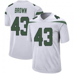 Game Youth Alex Brown New York Jets Nike Jersey - Spotlight White
