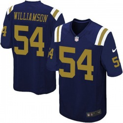 Game Youth Avery Williamson New York Jets Nike Alternate Jersey - Navy Blue