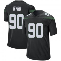 Game Youth Dennis Byrd New York Jets Nike Jersey - Stealth Black