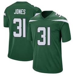 Game Youth Derrick Jones New York Jets Nike Jersey - Gotham Green