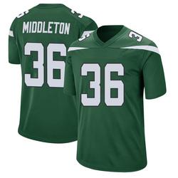 Game Youth Doug Middleton New York Jets Nike Jersey - Gotham Green