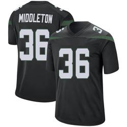 Game Youth Doug Middleton New York Jets Nike Jersey - Stealth Black