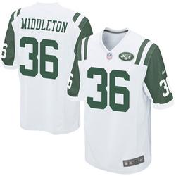 Game Youth Doug Middleton New York Jets Nike Jersey - White
