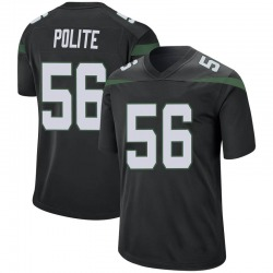 Game Youth Jachai Polite New York Jets Nike Jersey - Stealth Black