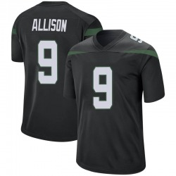 Game Youth Jeff Allison New York Jets Nike Jersey - Stealth Black