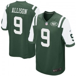 Game Youth Jeff Allison New York Jets Nike Team Color Jersey - Green