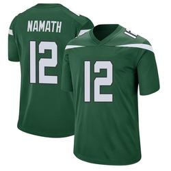 Game Youth Joe Namath New York Jets Nike Jersey - Gotham Green