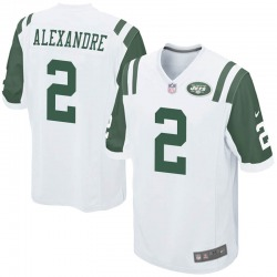 Game Youth Justin Alexandre New York Jets Nike Jersey - White