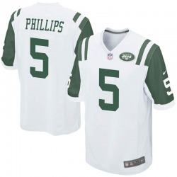 Game Youth Kyle Phillips New York Jets Nike Jersey - White