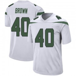Game Youth Kyron Brown New York Jets Nike Jersey - Spotlight White