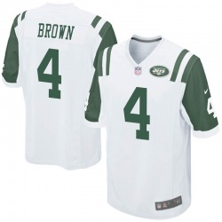 Game Youth Kyron Brown New York Jets Nike Jersey - White