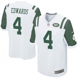 Game Youth Lachlan Edwards New York Jets Nike Jersey - White