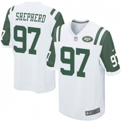 Game Youth Nathan Shepherd New York Jets Nike Jersey - White