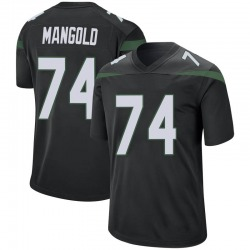 Game Youth Nick Mangold New York Jets Nike Jersey - Stealth Black