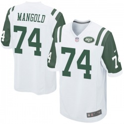 Game Youth Nick Mangold New York Jets Nike Jersey - White