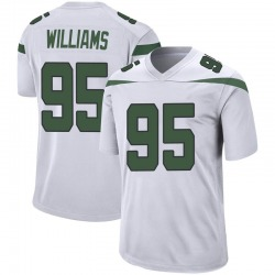 Game Youth Quinnen Williams New York Jets Nike Jersey - Spotlight White