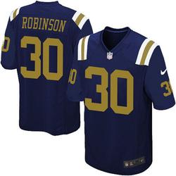 Game Youth Rashard Robinson New York Jets Nike Alternate Jersey - Navy Blue