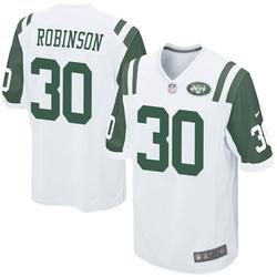 Game Youth Rashard Robinson New York Jets Nike Jersey - White