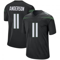 Game Youth Robby Anderson New York Jets Nike Jersey - Stealth Black