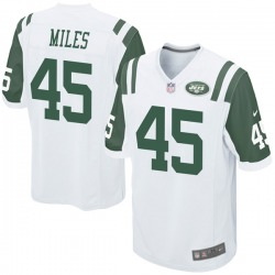 Game Youth Rontez Miles New York Jets Nike Jersey - White