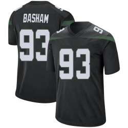 Game Youth Tarell Basham New York Jets Nike Jersey - Stealth Black