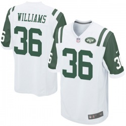 Game Youth Terry Williams New York Jets Nike Jersey - White