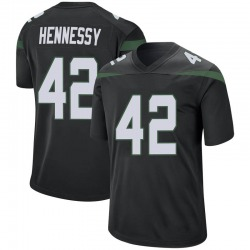 Game Youth Thomas Hennessy New York Jets Nike Jersey - Stealth Black