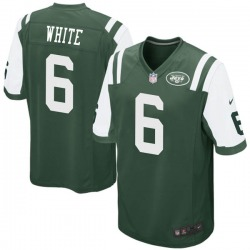Game Youth Tim White New York Jets Nike Green Team Color Jersey - White