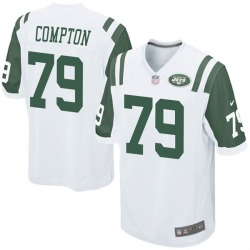 Game Youth Tom Compton New York Jets Nike Jersey - White