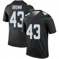 Legend Men's Alex Brown New York Jets Nike Color Rush Jersey - Stealth Black