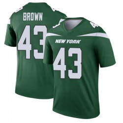 Legend Men's Alex Brown New York Jets Nike Player Jersey - Gotham Green