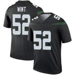 Legend Men's Anthony Wint New York Jets Nike Color Rush Jersey - Stealth Black