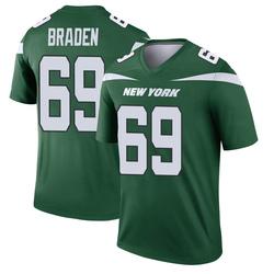 Legend Men's Ben Braden New York Jets Nike Player Jersey - Gotham Green
