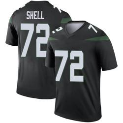 Legend Men's Brandon Shell New York Jets Nike Color Rush Jersey - Stealth Black