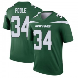 Legend Men's Brian Poole New York Jets Nike Player Jersey - Gotham Green