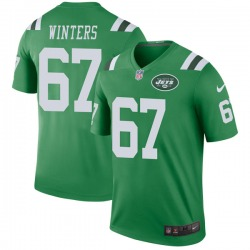 Legend Men's Brian Winters New York Jets Nike Color Rush Jersey - Green