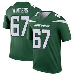 Legend Men's Brian Winters New York Jets Nike Player Jersey - Gotham Green