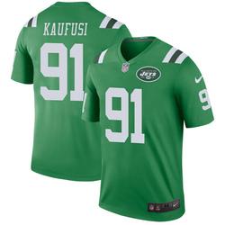 Legend Men's Bronson Kaufusi New York Jets Nike Color Rush Jersey - Green
